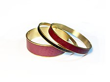 Bordeaux Bangle Bracelets by Louise Fischer Cozzi (Polymer Clay Bracelet)