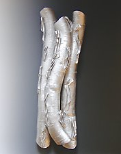 High Relief in Silver Two by Lenore Lampi (Ceramic Wall Sculpture)