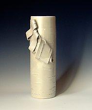 Glistening Birch 1 by Lenore Lampi (Ceramic Vase)