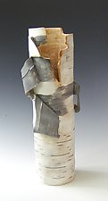 Birch Motif Vase Twenty-One by Lenore Lampi (Ceramic Vase)
