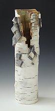 Vase Unfurled by Lenore Lampi (Ceramic Vase)