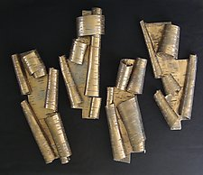 Scrolls in Bronze by Lenore Lampi (Ceramic Wall Sculpture)