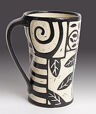 Patches Mug by Jennifer  Falter (Ceramic Mug)