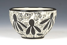 Cone Flower Bowl by Jennifer  Falter (Ceramic Bowl)