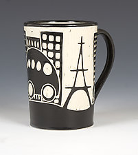 Eiffel Tower Mug by Jennifer  Falter (Ceramic Mug)