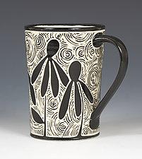 Coneflower Mug by Jennifer  Falter (Ceramic Mug)
