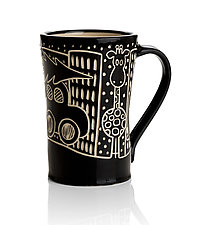 Snowy Night by Jennifer  Falter (Ceramic Mug)