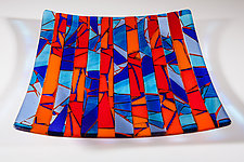 Twilight Blue by Varda Avnisan (Art Glass Tray)