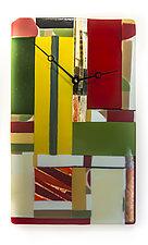 Geometric Clock by Varda Avnisan (Art Glass Clock)