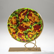 Poppy Field by Varda Avnisan (Art Glass Sculpture)