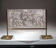 Elephants by Varda Avnisan (Art Glass Sculpture)