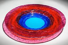 Blue Moon Art Glass Bowl by Varda Avnisan (Art Glass Bowl)