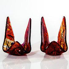 Amore Candle Holders by Varda Avnisan (Art Glass Candleholders)
