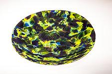 Green Lava Bowl by Varda Avnisan (Art Glass Bowl)