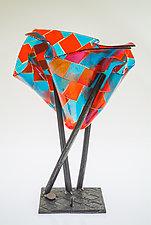 Color Block II by Varda Avnisan (Art Glass Sculpture)