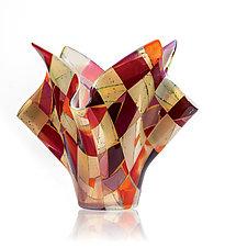 Arizona Sunrise by Varda Avnisan (Art Glass Sculpture)