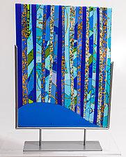 Blue Forest by Varda Avnisan (Art Glass Sculpture)