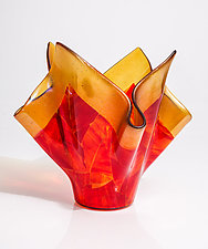 Red Vessel by Varda Avnisan (Art Glass Vessel)