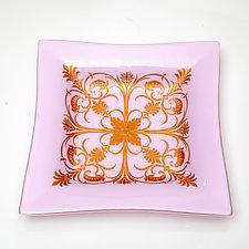 Pink Bowl by Varda Avnisan (Art Glass Bowl)