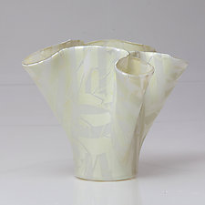 Winter White Sculpture by Varda Avnisan (Art Glass Sculpture)