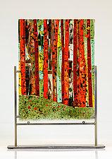 Autumn Woods Art Glass Sculpture by Varda Avnisan (Art Glass Sculpture)