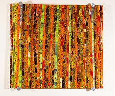 Autumn Meadow Art Glass Sculpture by Varda Avnisan (Art Glass Wall Sculpture)