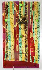 Striped Art Glass Clock by Varda Avnisan (Art Glass Clock)