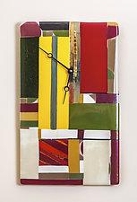 Geometric Art Glass Clock by Varda Avnisan (Art Glass Clock)