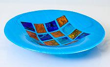Postcards in Blue by Varda Avnisan (Art Glass Bowl)