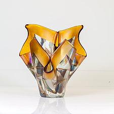 Off Balance by Varda Avnisan (Art Glass Sculpture)