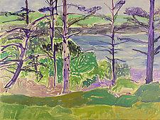 Monhegan Landscape by Leonard Moskowitz (Acrylic Painting)