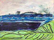 Winter Pond by Leonard Moskowitz (Acrylic Painting)