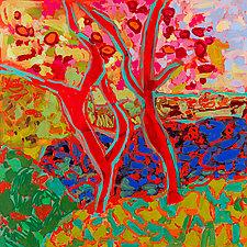 Apple Tree Forest IV by Leonard Moskowitz (Acrylic Painting)