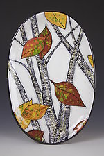 Oval Aspen Plate by Farraday Newsome (Ceramic Platter)