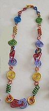 Raspberry Swirl Necklace by Sylvi Harwin (Aluminum Necklace)