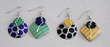 Stripes & Dots Earrings by Sylvi Harwin (Aluminum Earrings)
