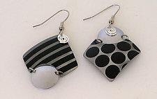 Dots & Stripes Earrings by Sylvi Harwin (Aluminum Earrings)