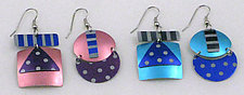 Geometric Stripes and Dots Earrings by Sylvi Harwin (Jewelry Earrings)