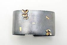 Folded 5 Leaf Asymmetrical Bangle by Sadie Wang (Gold & Silver Bracelet)