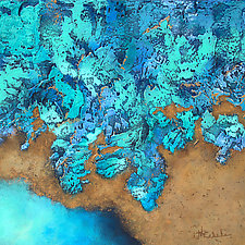 Watery Edge by Nancy Eckels (Acrylic Painting)
