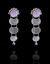 Purple Chalcedony Earrings with Turquoise by Ashley Vick (Silver & Stone Earrings)