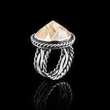 Rutilated Quartz Ring by Ashley Vick (Silver & Stone Ring)