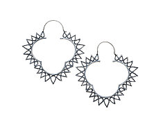 Zig Zag Earrings by Analya Cespedes (Silver Earrings)