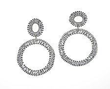 Two Circles Earrings by Analya Cespedes (Silver Earrings)