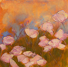 Pink Poppy Field by Denise Souza Finney (Acrylic Painting)