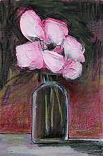 Pinks in a Dark Spot by Denise Souza Finney (Acrylic Painting)