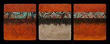 Canyon Walls: OCO S+ Triptych by Kara Young (Mixed-Media Wall Hanging)