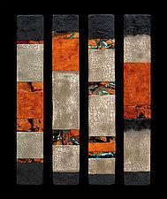 Canyon Walls: Talking Sticks by Kara Young (Mixed-Media Wall Hanging)