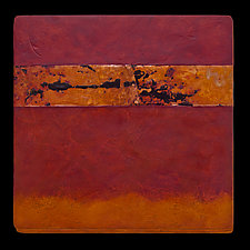 Canyon Walls: Rose/O 12x12 by Kara Young (Mixed-Media Wall Hanging)