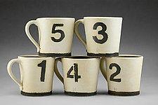 Number Mugs by Nathan  Falter (Ceramic Mug)